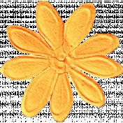 School Fun- Orange Big Flower