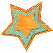 School Fun- Orange Burlap Star