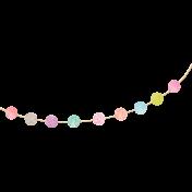 Garden Party- Polka Dot Paper Banner