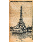 Meet Me In Paris- Eiffel Vintage Sticker