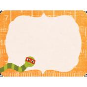 School Fun- Journal Card- Bookworm