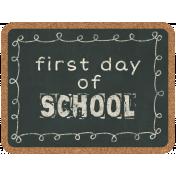 School Fun- Journal Cards- Chalkboard