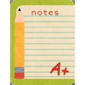 School Fun- Journal Cards- Notes