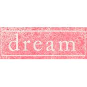 Summer Daydreams- Dream Wordart
