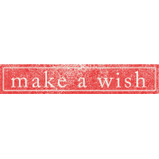 Summer Daydreams- Make A Wish Wordart