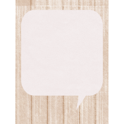 Summer Daydreams- Journal Card- Speech Bubble