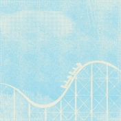 At The Fair- September 2014 Blog Train- Rollercoaster Paper