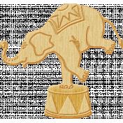 At The Fair- Septmeber 2014 Blog Train- Woodchip Elephant