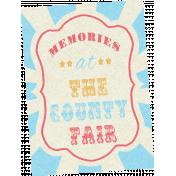 At The Fair- September 2014 Blog Train- Journal Card- Memories At The County Fair