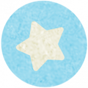 At The Fair- September 2014 Blog Train- Sticker- Blue Star In Circle