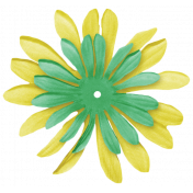 At The Fair- September 2014 Blog Train- Yellow & Green Flower