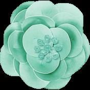 Summer Daydreams - Blue Paper Flower
