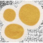 Summer Daydreams- Brown Flower Center Sticker
