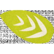 Summer Daydreams- Green Leaf Sticker