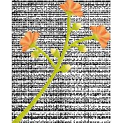 Summer Daydreams- Orange Flowers On Stem