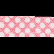 Summer Daydreams- Pink Polka Dot Straight Ribbon