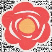 Summer Daydreams- Red Flower Sticker