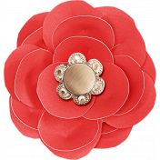 Summer Daydreams- Red Paper Flower