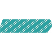 Summer Daydreams- Teal Striped Tape