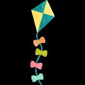 Summer Daydreams - Teal Yellow Kite