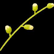 Summer Daydreams- Yellow Buds on Stem