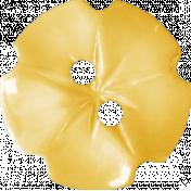 Summer Daydreams- Yellow Flower Button
