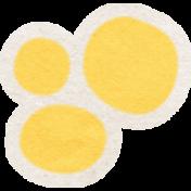 Summer Daydreams- Yellow Flower Center Sticker