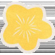 Summer Daydreams- Yellow Flower Sticker