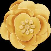 Summer Daydreams- Yellow Paper Flower