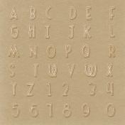 Outdoor Adventures Alpha- Paper Sticker- Wood Grain