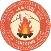 Outdoor Adventures- Word Art- Campfire Cooking