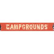Outdoor Adventures- Word Art- Camp Grounds