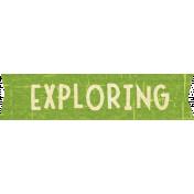 Outdoor Adventures- Word Art- Exploring