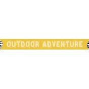 Outdoor Adventures- Word Art- Outdoor Adventure