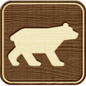 Outdoor Adventures- Recreational Icon Woodchips- Bear