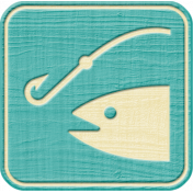 Outdoor Adventures- Recreational Icon Woodchips- Fishing