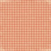 Ourdoor Adventures- Gingham Paper- Red/Orange