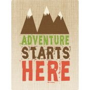 Outdoor Adventures- Journal Card- Adventure Starts Here