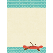 Outdoor Adventures- Journal Card- Canoe Water Pattern