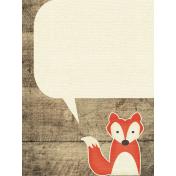 Outdoor Adventures- Journal Card- Fox Speech Bubble