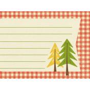 Outdoor Adventures- Journal Card- Gingham