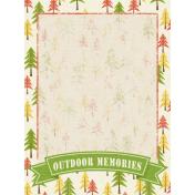 Outdoor Adventures- Journal Card- Outdoor Memories