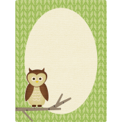 Outdoor Adventures- Journal Card- Owl