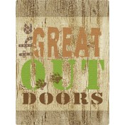 Outdoor Adventures- Journal Card- The Great Outdoors