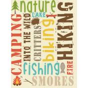 Outdoor Adventures- Journal Card- Word Scramble