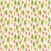 Outdoor Adventures- Autumn Pine Trees Paper
