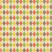 Outdoor Adventures- Colorful Argyle Paper