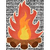 Outdoor Adventures- Campfire Sticker