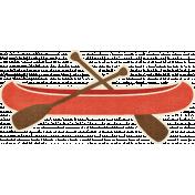 Outdoor Adventures- Canoe Sticker