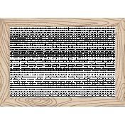 Outdoor Adventures- Doodled Wood Chip Board Frame